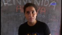 Declaraciones de la activista Amaya Coppers, de Nicaragua.