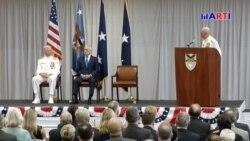 Secretario de Defensa critica regímenes de Cuba, Venezuela y Nicaragua
