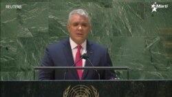 """Ivan Duque afirma en la ONU que """"no hay que ser ingenuos con los diálogos sobre la crisis venezolana"""""""