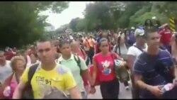 Cubanos intentan avanzar en Nicaragua