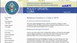 Informe de Comisión de Libertad Religiosa Internacional destaca violaciones en Cuba