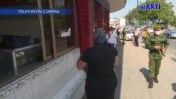Fuerzas de choque recorren las calles de la capital cubana.
