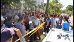 Fin de semana de protestas frente a la embajada de Ecuador en La Habana