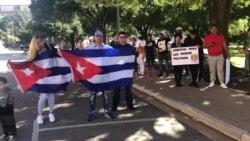 Miembros de la UNPACU en el exilio exigen la liberación de José Daniel Ferrer desde Austin, Texas