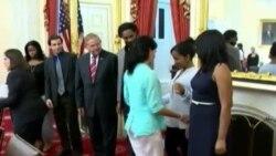 Becarios cubanos se reunen con congresistas cubanoamericanos