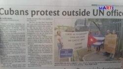 Cubanos acampados frente agencia de la ONU en Trinidad y Tobago