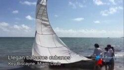 Balseros cubanos llegan a Key Biscayne