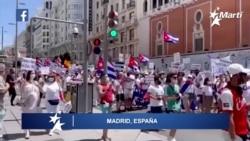 Info Martí   Grandes marchas en Washington y Madrid reclaman el fin de la dictadura en Cuba