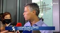 El líder opositor venezolano, Leopoldo López, asistió al Foro de Oslo por la Libertad