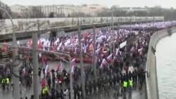 Marcha en Moscú en homenaje a Boris Nemtsov