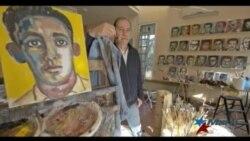 Artista cubano pinta el rostro de todos los fusilados por el castrismo
